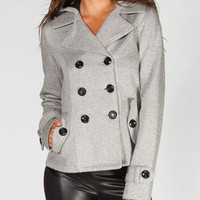 FULL TILT Twill/Fleece Womens Peacoat