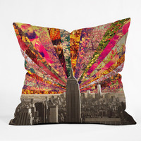 DENY Designs Home Accessories | bianca green Blooming NY Throw Pillow