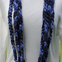 Dark Blue Infninity Chain Scarf