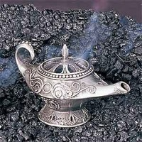 Genie Lamp Pewter Collectible Incense Cone Burner Aromatherapy:Amazon:Home & Kitchen