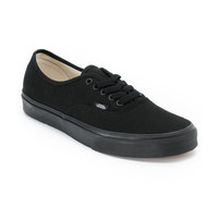Vans Authentic Lace Up All Black Shoe at Zumiez : PDP