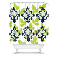 DENY Designs Home Accessories | Natt Deer And Leaves Shower Curtain
