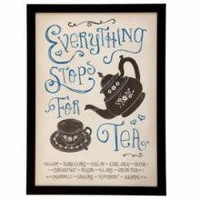 Classic Retro Everything Stops For Tea Framed Print - Wall Art & Signs - 17.99 - The Contemporary Home Online Shop