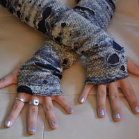 Gray Zombie Arm Warmers