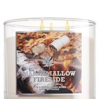 Marshmallow Fireside 14.5 oz. 3-Wick Candle   - Slatkin & Co. - Bath & Body Works
