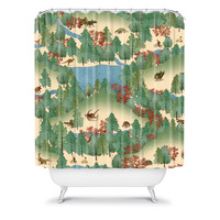DENY Designs Home Accessories | Belle13 Travelling Through Jurassic Shower Curtain