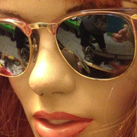 Pink Clubmaster Sunglasses, Mirrored Lens Clubmasters, Deadstock Eyeglasses