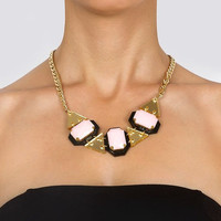 Pale Pink Drops Statement Necklace,Plexiglass Jewelry,Geometric Necklace,Lasercut Acrylic