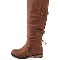 Triple Buckle Knee-High Boot: Charlotte Russe