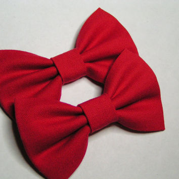 Shoe Clips - Shoe and Boot fabric Bow clips solid red, Shoe clips, Boot clips, Bow shoe clip, Bow boot clip