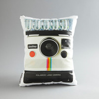 Vintage Polaroid OneStep Printed Pillow