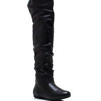 Ride-High-Faux-Leather-Boots BLACK BROWN TAN - GoJane.com