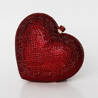 2013 red heart A crystal evening bag hard clutch box bag handcraft S0871 Free Shipping-in Evening Bags from Luggage & Bags on Aliexpress.com