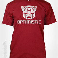 Be optimistic transformers  gift idea for happy by TheShirtDudes