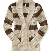 Striped Cocoon Shawl - Aeropostale