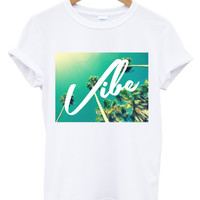Vibe palm trees t shirt