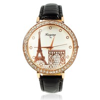 Diamond-encrusted Ladies Eiffel Tower Watch