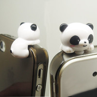 1PC Cu te Cartoon Resin Bear Cell Phone Earphone Antidust Plug Cap Charm for iPhone, Samsung, HTC, Nokia