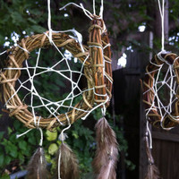 Dream Catcher Ornaments Feathered