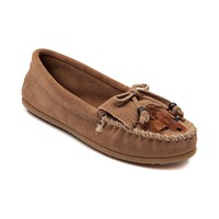 Womens Minnetonka Feather Moc Casual Shoe, Taupe | Journeys Shoes