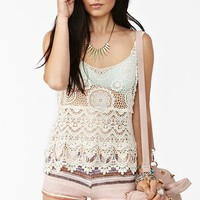 Tiered Crochet Tank in  Clothes Tops Cropped at Nasty Gal