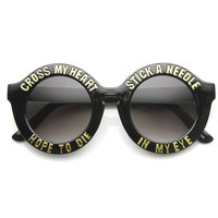 Cross My Heart Hope To Die Womens Fashion Hipster Swag Sunglasses 9128