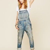 NSF Womens Rascal Washed Overall - Railroad