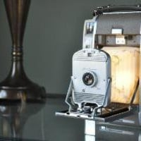 Vintage Polaroid Land Camera Lamp by CECorkLightingCo on Etsy