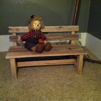 Handmade Children's Park Bench Prop made with Reclaimed Barn Wood