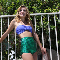 The little mermaid High Waisted Swimsuit bikini set