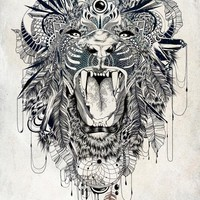 """Lion"" - Art Print by Feline Zegers"