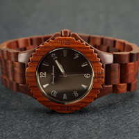 Mens Brown Vintage Eco-friendly Natural Sandal Wood Wrist Watch