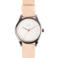 Buy Miró Watches — Creme Face Nature Strap