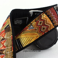 African Tribal Camera Strap, Tribal, dSLR, SLR, 130-1