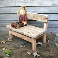 Handmade Children's Bench Prop made with Reclaimed Barn Wood