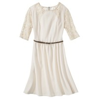 Xhilaration® Juniors Belted Lace Detail Fit & Flare Dress - Assorted Colors