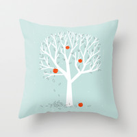 Apple Season Throw Pillow by Jenny Tiffany