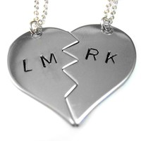 Supermarket: Customizable Metal Stamped Love/Bestie Necklaces from Avant Garde Design