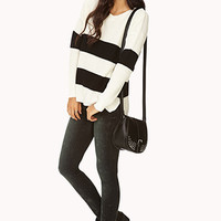 Easy Striped Sweater | FOREVER 21 - 2000111842