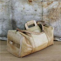 Vintage Bag, Vintage Leather Duffle Bag