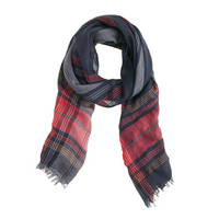 Wool-linen plaid scarf - scarves & hats - Women's accessories - J.Crew