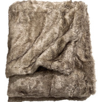 H&M - Faux Fur Throw - Brown