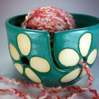 Yarn Bowl Knitting Bowl seen in Vogue Knitting Magazine Handmade... | JulieKnowlesPottery - Ceramics & Pottery on ArtFire