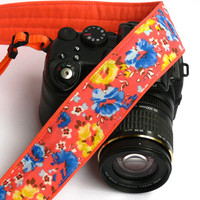 Flowers Camera Strap. dSLR Camera Strap. Women Accessories.