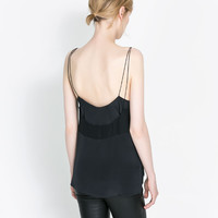 COMBINATION SILK CAMISOLE - Blouses - Shirts - Woman | ZARA United States