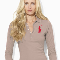 Cropped-Sleeve Big Pony Polo