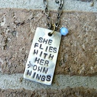 She Flies With Her Own Wings, Strength, Necklace