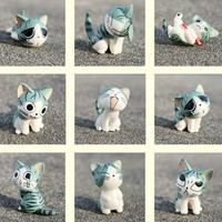 Cartoon Chi&#x27;s Sweet Home Cute Cat Figures Animal 9 PCs