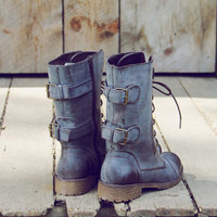 Sweet & Rugged Combat Boots in Brown