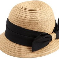 Jessica Simpson Women's Bow Cloche Hat
